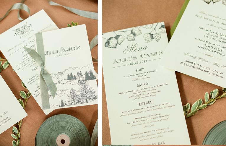 Rocky Mountain Bespoke Invitation Suite